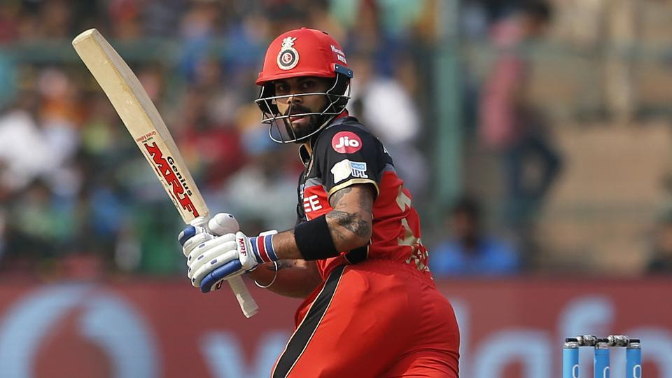 Virat Kohli,  captain of Royal Challengers Bangalore, hit a 39-ball fifty against Mumbai Indians in their 2017 Indian Premier League match in Bangalore on Friday.