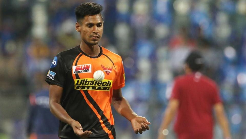 Mustafizur Rahman of the Sunrisers Hyderabad before the start of the match 10 of the 2017 Indian Premier League against Mumbai Indians at the Wankhede Stadium in Mumbai.