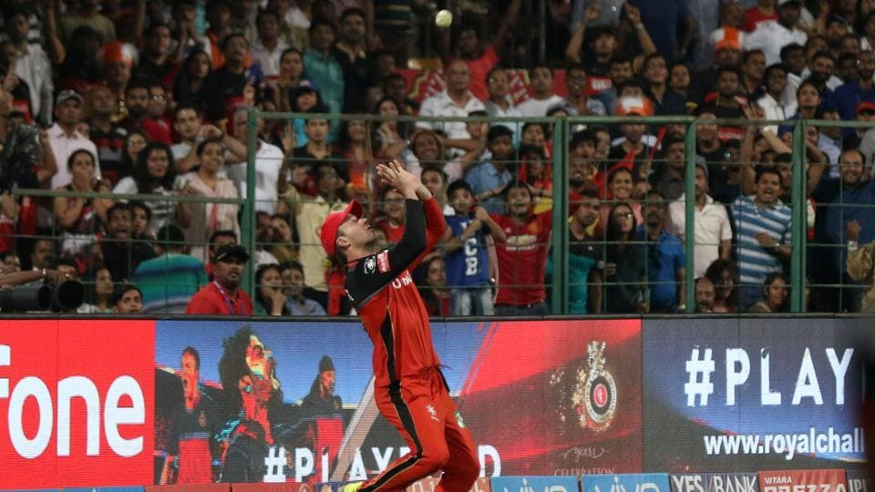 Kieron Pollard was ultimately caught by AB de Villiers on 70 but by then Mumbai Indians were within sniffing distance of victory against Royal Challengers Bangalore. (BCCI)