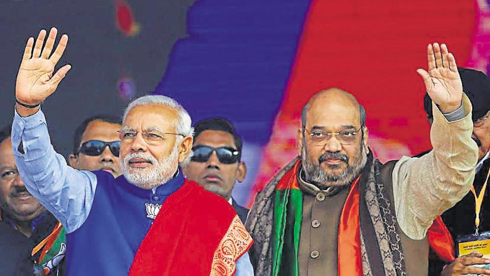 Narendra Modi (left) and Amit Shah have their eyes set on Odisha.