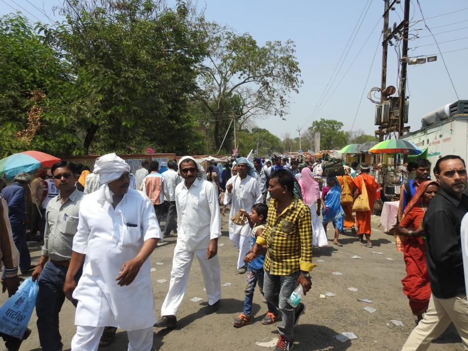 Thousands of people  congregated at Mhow on April 14 to mark Dr BRAmbedkar's birth anniversary