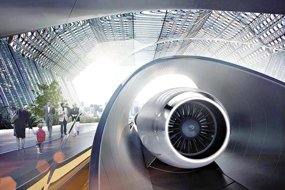 This is how a Hyperloop TT station would look like once it is ready