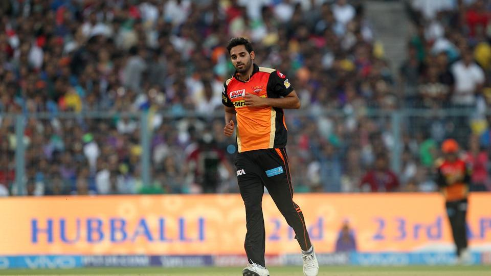 Bhuvnshwar Kumar was the pick of the bowlers for SRH, as he ended with figures of 3/20. (bCCI)