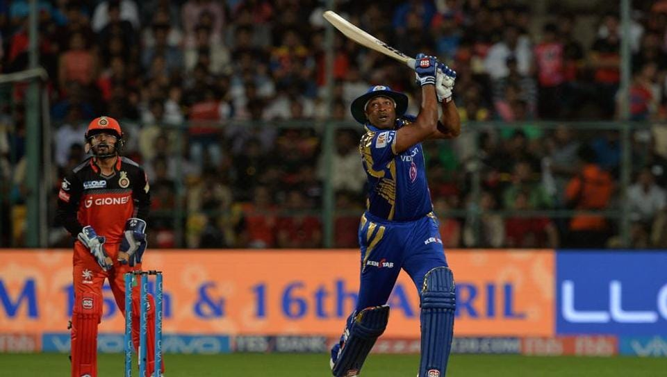 Kieron Pollard blasted 70 off 47 balls and shared a 93-run stand with Krunal Pandya to help Mumbai Indians recover from 7/4 to a thrilling four-wicket win over Royal Challengers Bangalore in the 2017 Indian Premier League.