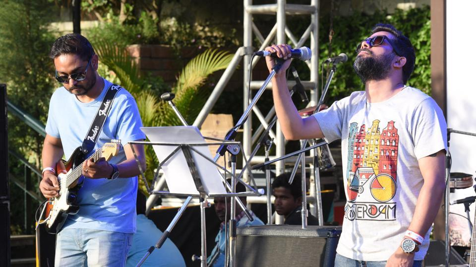 The music festival began with a performance by Late Too Soon - Guwahati, Delhi and Mumbai; at Kasauli on Friday, April 14.