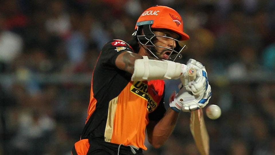 In reply, David Warner and Shikhar Dhawan got SRH off to a good start, the Indian batsman being the aggressor. (BCCI)