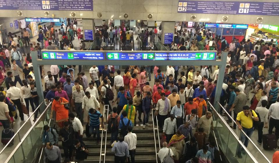 The pornographic video allegedly played at a platform at Rajiv Chowk metro station for less than a minute. A video of the incident is now being shared on social media.