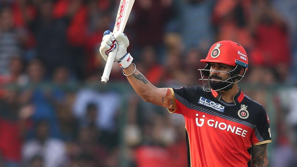 Virat Kohli hit a half-century for Royal Challengers Bangalore in his first match of the Indian Premier League (IPL) 2017.