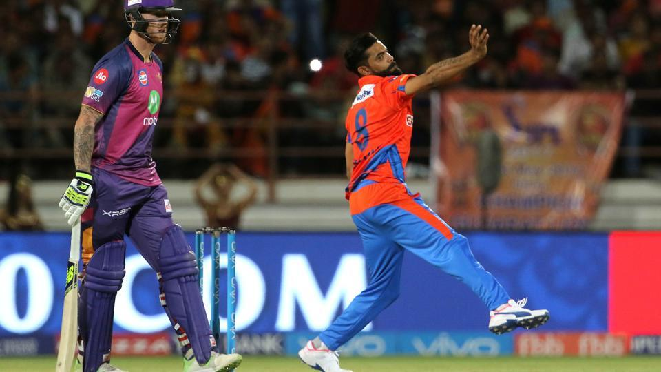 Ravindra Jadeja played his first match of IPL 2017 and dismissed MS Dhoni. (BCCI)