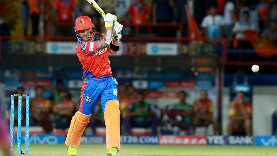 Brendon McCullum scored 49 off 32 balls to give Gujarat Lions a great start in chase. (BCCI)