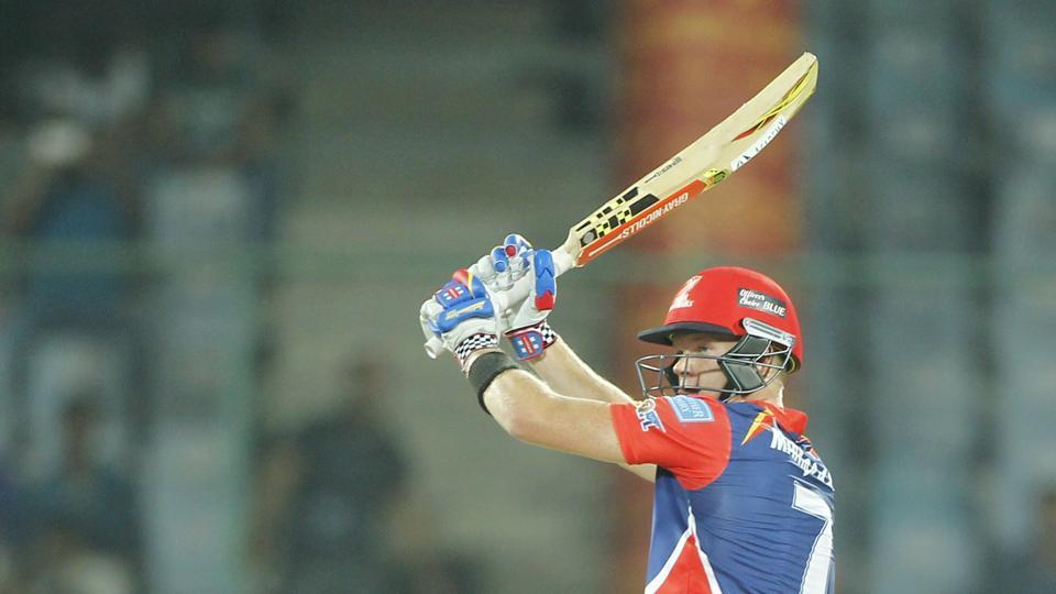 Sam Billings scored 55 for Delhi Daredevils against Kings XI Punjab in an Indian Premier League (IPL) 2017 match.