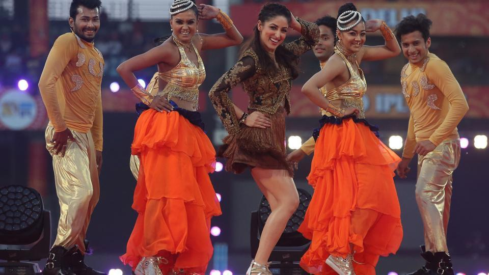 Bollywood actor Yami Gautam performs at the opening ceremony ahead of the Indian Premier League (IPL) match between Delhi Daredevils and Kings XI Punjab. (BCCI)