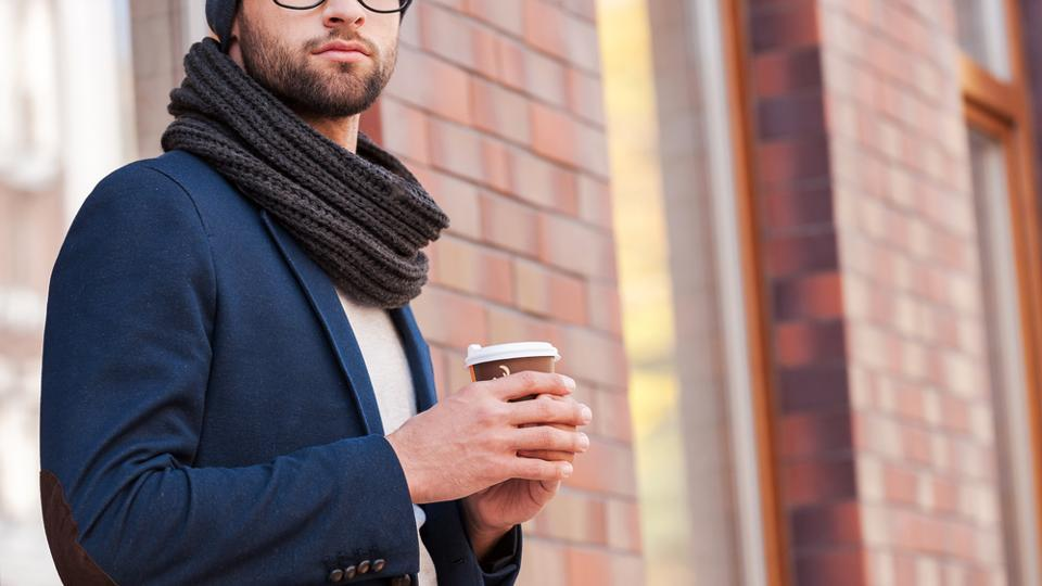Scarves can easily add to the style quotient in men.