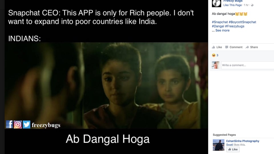 Image result for snapchat india memes