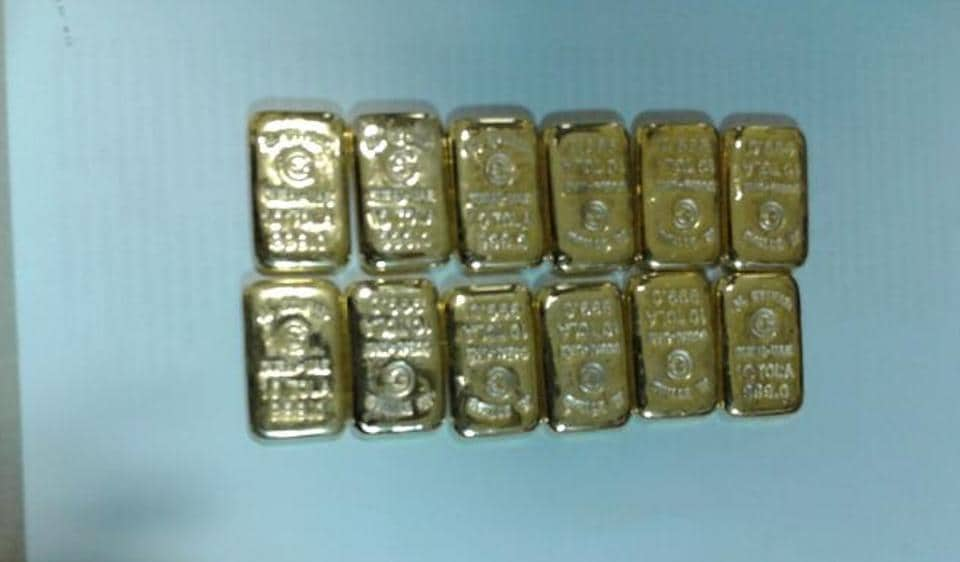 The gold bars recovered from the accused are worth Rs87.45 lakh.