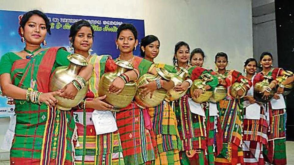 Nearly 20 tribal women from all over the country participated in the Miss India Indigenous contest in Jamshedpur.