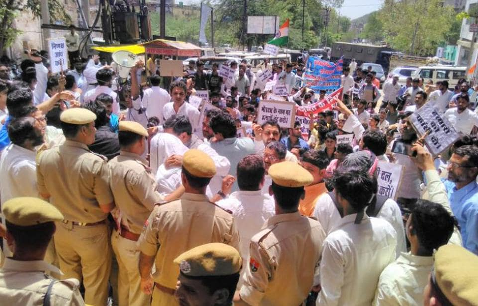 Mewat Yuva Sangthan  took out  a silent march in Alwar on April 10 demanding arrest of accused in the Pehlu Khan lynching case.