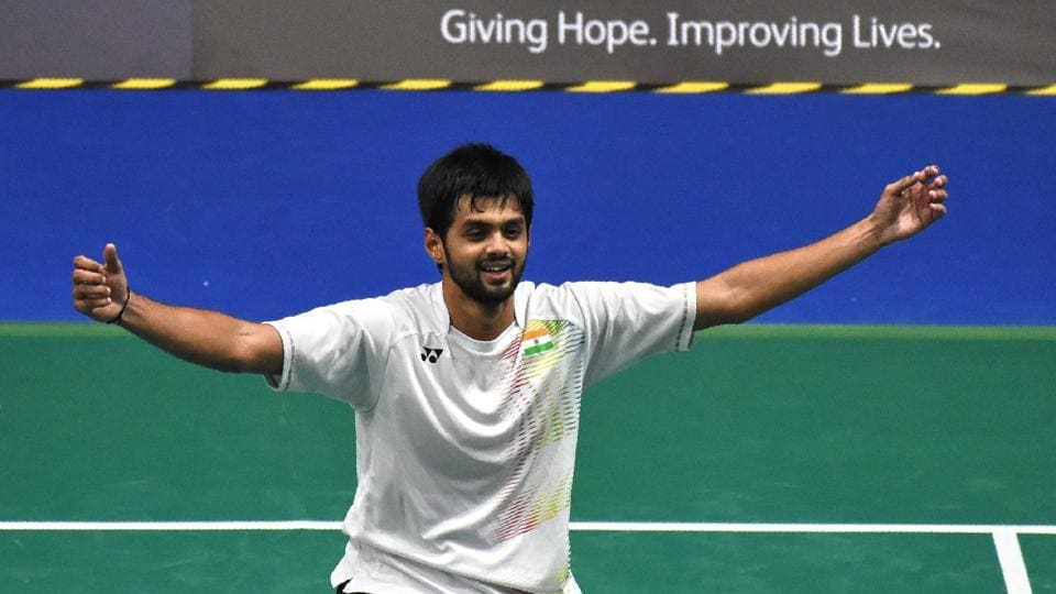 B Sai Praneeth defeated Kidambi Srikanth in a tough three-game encounter to win the Singapore Open Superseries tournament.