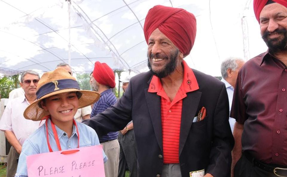 Milkha Singh at  Chandigarh Golf Club  elections, on Sunday. (Keshav Singh//HT)