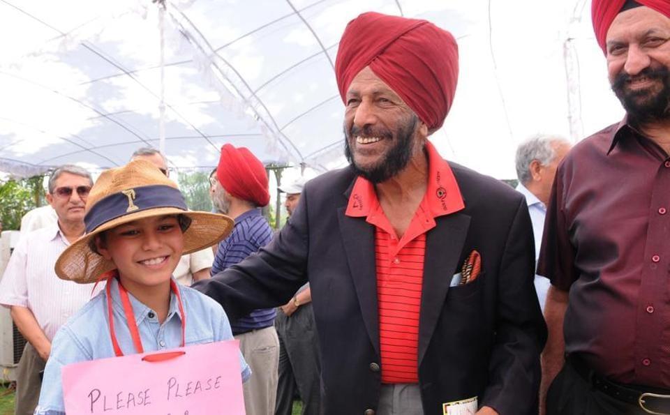 Milkha Singh at  Chandigarh Golf Club  elections, on Sunday. (Keshav Singh//HT)