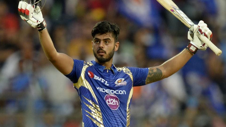 Nitish Rana scored his second IPLfifty as Mumbai Indians beat Gujarat Lions by 6 wickets.
