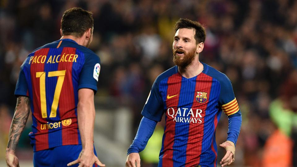 FCBarcelona defeated Real Sociedad 3-2 thanks to two goals from Lionel Messi as the team looks for success in both Champions League and the upcoming El Clasico encounter.