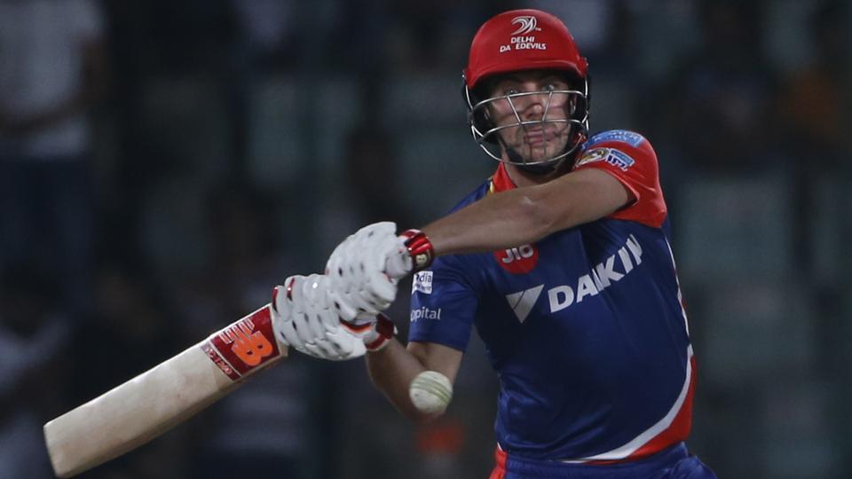 Delhi Daredevils' batsman Pat Cummins plays a shot during the Indian Premier League (IPL) cricket match against Kings XI Punjab. Delhi Daredevils play Kolkata Knight Riders at Kotla on Monday
