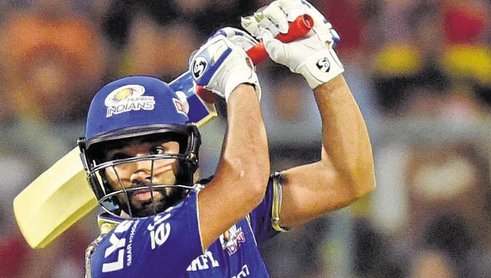 Rohit Sharma hit the winning runs for MumbaiIndians in their 177-run chase against Gujarat Lions in an Indian Premier League (IPL) match. Catch full cricket score of Mumbai Indians vs Gujarat Lions here