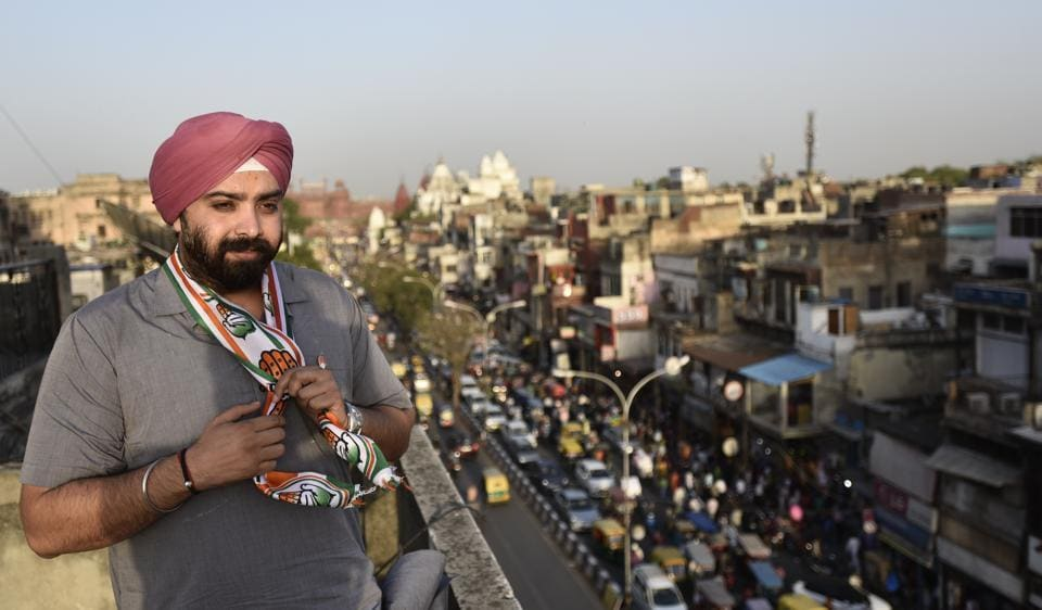 PurandeepSingh Sawhney, the Congress candidate from Chandni Chowk, is the son of party's veteran MLA from the area -- Prahlad Singh Sawhney.