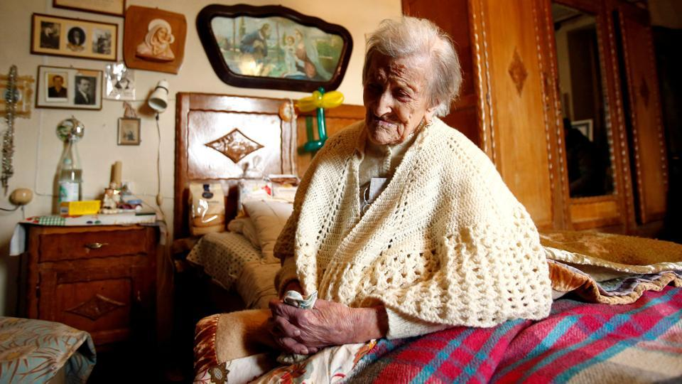 Morano outlived all her eight brothers and sisters, including one who died at 102.  (Alessandro Garofalo / Reuters File Photo)