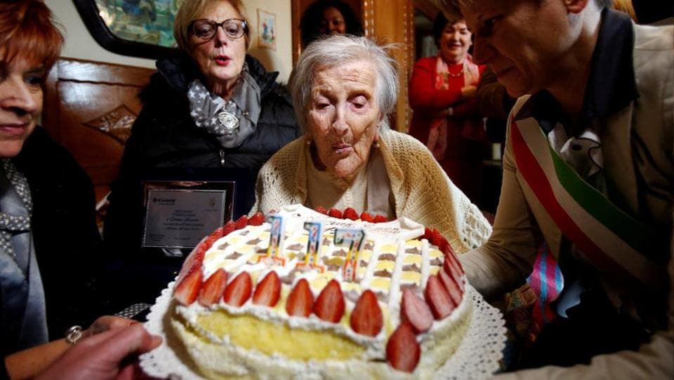 Emma Morano, who at 117 was believed to be the world's oldest person and the last surviving child of the 19th century, died on Saturday, swearing to the end on her diet of two raw eggs a day. (REUTERS)