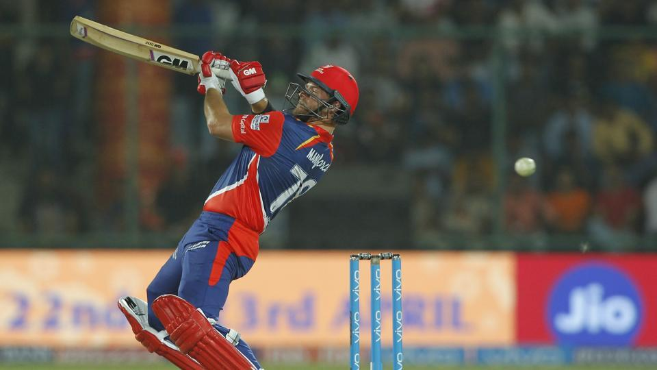 Corey Anderson's late charge in the form of a 22-ball 39 ensured Delhi Daredevils finished on 188/6. (BCCI)