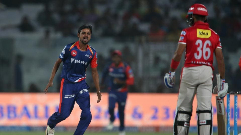 Delhi Daredevils started well when left-arm spinner Shahbaz Nadeem dismissed Kings XI Punjab opener Manan Vohra quickly.  (BCCI)