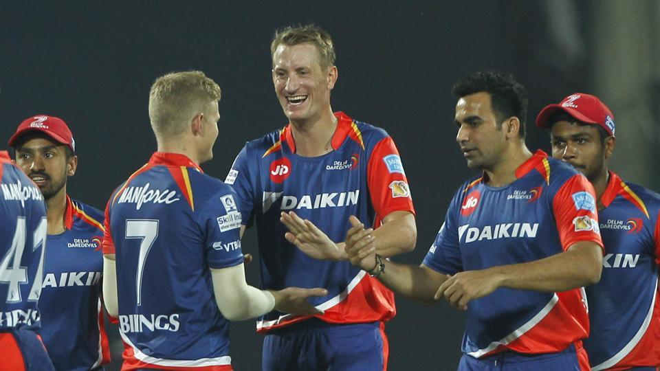 Delhi Daredevils then continued to chip at the Kings XI Punjab batting, thanks to a disciplined bowling from Chris Morris (in pic) and Pat Cummins.  (BCCI)