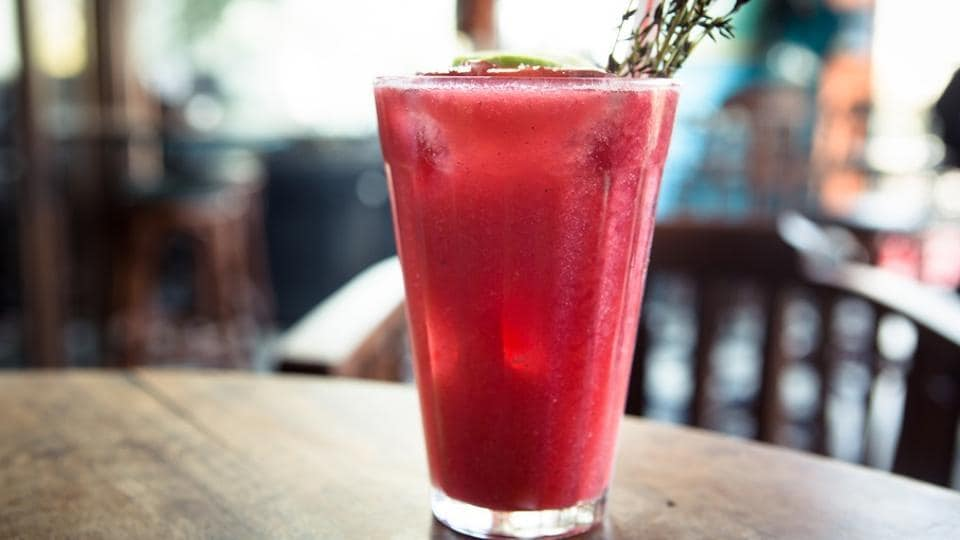 Pallonji raspberry soda is a popular drink served during Parsi weddings.