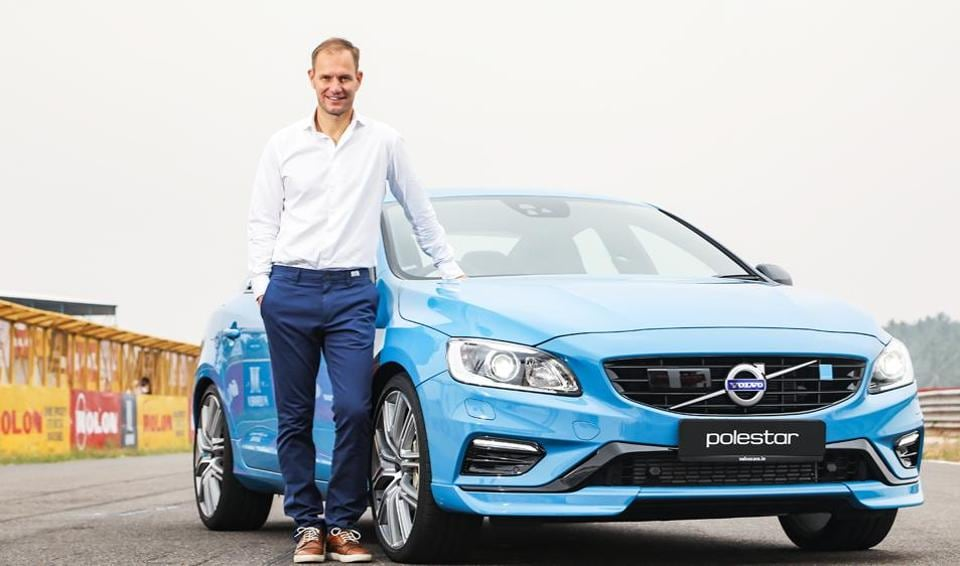 Volvo Auto India MDTom von Bonsdorff at the launch of the new S60 Polestar in Coimbatore on Friday.
