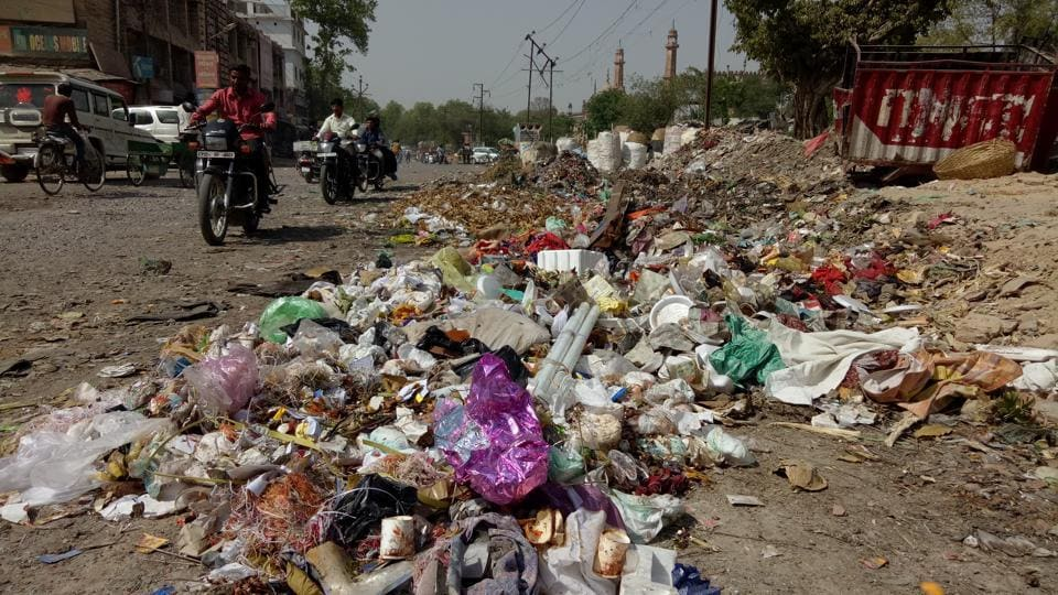 A garbage dump behind Bada Imambada. Waste material, especially plastic, is causing irreparable damage to the environment.