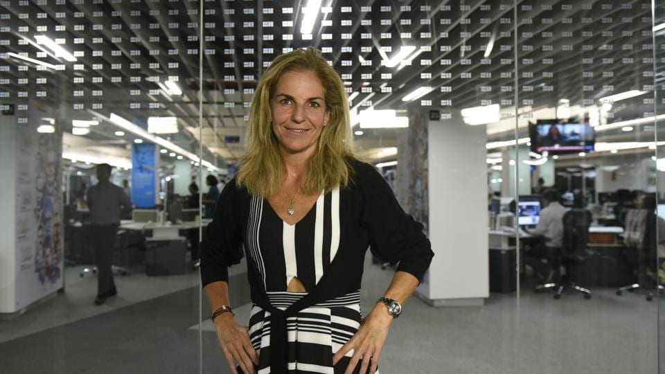 Spanish former World No. 1 professional tennis player, Arantxa Sánchez Vicario, at the HT office in New Delhi on Monday.