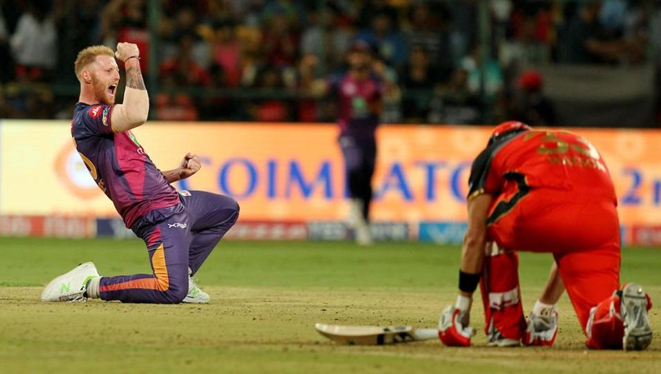 IPL 2017,Royal Challengers Bangalore vs Rising Pune Supergiant,Ben Stokes