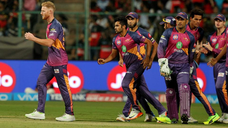 Ben Stokes (left) took three wickets as Rising Pune Supergiant defeated Royal Challengers Bangalore by 27 runs in Indian Premier League (IPL) 2017. (BCCI)