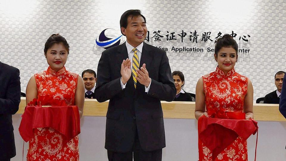 Chinese Ambassador to India, Luo Zhaohui during a function in New Delhi.