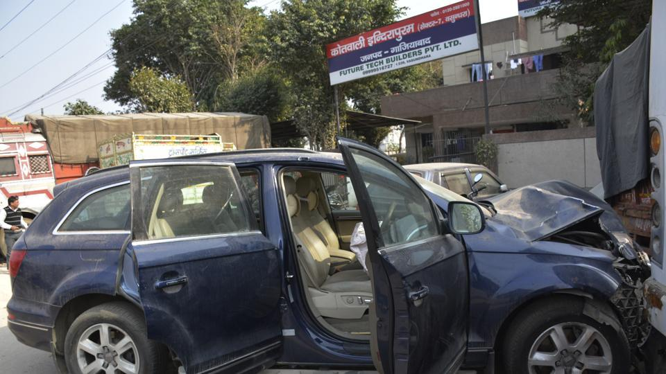 The SUV had rammed an auto head-on on the intervening night of January 27 and 28 near Hindon Canal in Indirapuram area of Ghaziabad.