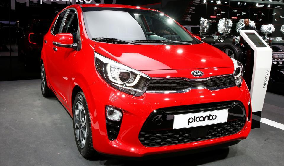 A Kia Picanto car at the 87th International Motor Show at Palexpo in Geneva. The car could be one of the debut products of Kia Motors in India.