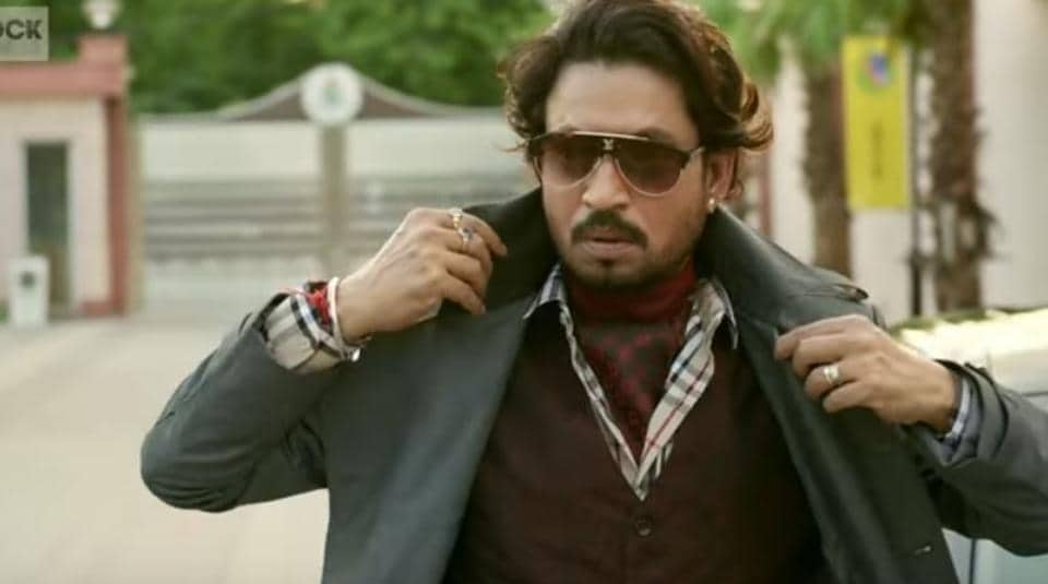 Irrfan Khan in a still from his upcoming film Hindi Medium.
