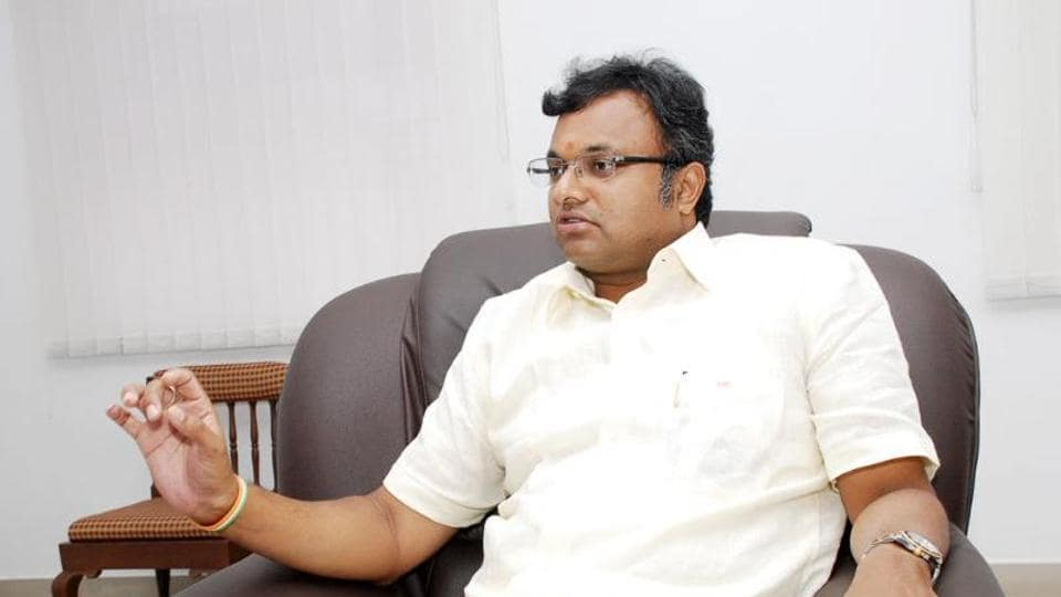 Karti is the son of senior Congress leader and former finance minister P Chidambaram.