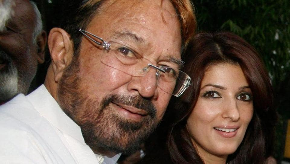 Rajesh Khanna with his daughter Twinkle Khanna in 2010.