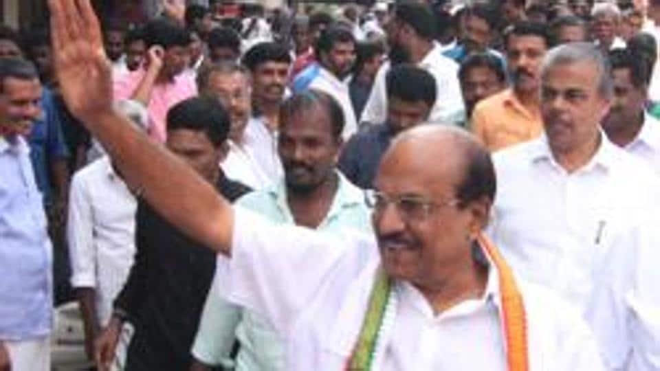 Muslim League's PK Kunhalikutty on campaign trail.