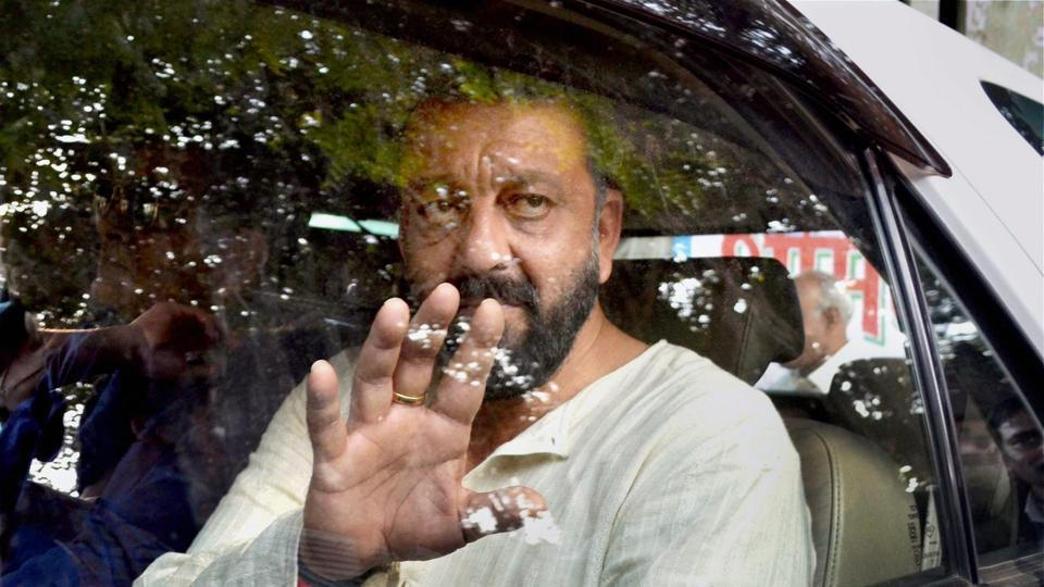 Sanjay Dutt while shooting for his comeback film Bhoomi in Agra.