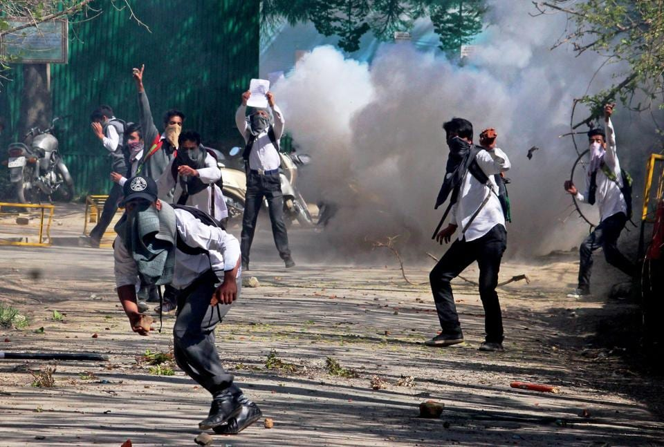 Kashmir,Colleges closed,Students' protest