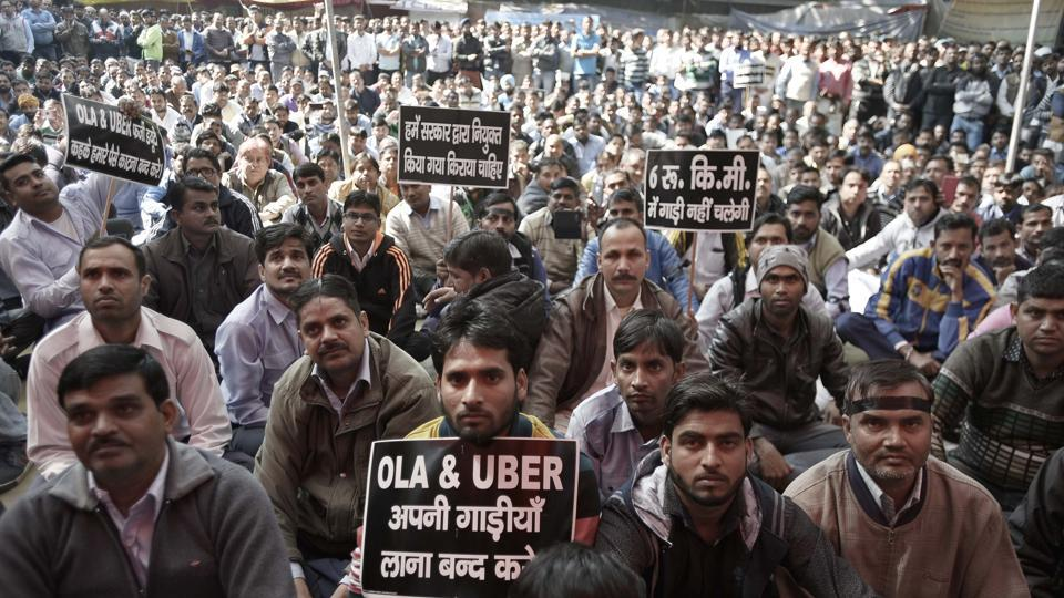 The court asked the Sarvodaya Driver Association of Delhi (SDAD) and the Rajdhani Tourist Drivers' Union not to remove or confiscate the mobile devices installed in the Ola-Uber cabs, not to stage dharna or cause commotion within 500 metres from the firms' offices.